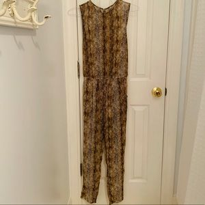 Urban Outfitters Snakeskin Pattern Jumpsuit